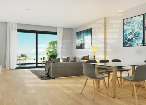 Brand new apartment in residential complex with communal pool and gardens,